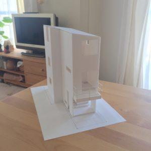 超狭小建築模型 7坪の家 車庫あり hanahiyo  ハナヒヨ