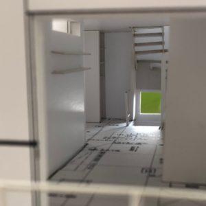 超狭小住宅模型2階リビング